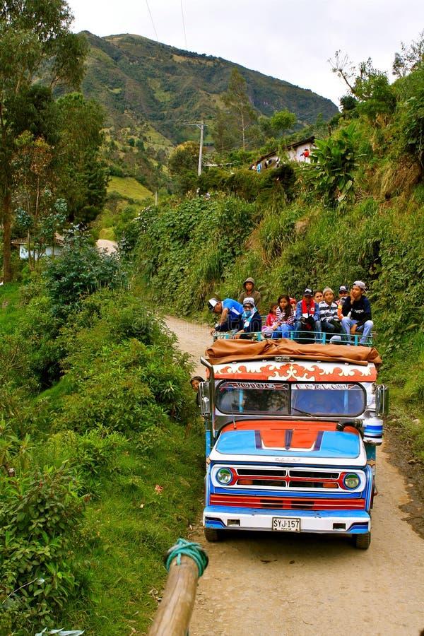 Transport en commun en Colombie rurale images libres de droits