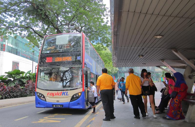 Transport en commun Kuala Lumpur Malaysia d'autobus images stock