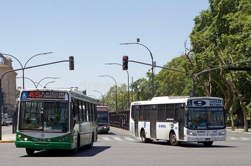 Transport en commun local à Buenos Aires, Argentine photos stock
