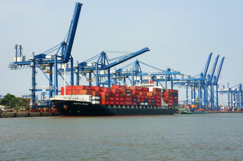 Transport, Export, Import, Ho Chi Minh-Hafen lizenzfreie stockbilder
