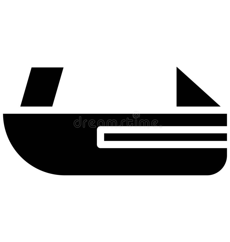 Jet boating Vector icon which can be easily modified or edit in any color vector illustration