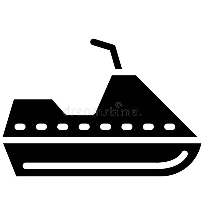 Jet boating Vector icon which can be easily modified or edit in any color royalty free illustration