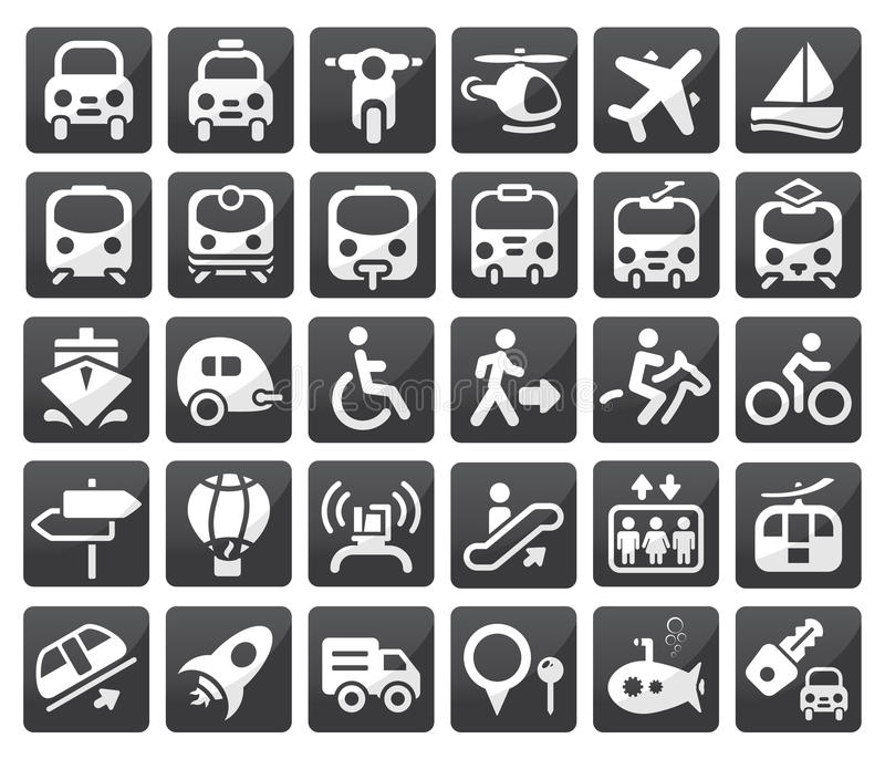 Download Transport icon set stock vector. Image of icon, airplane - 22798048