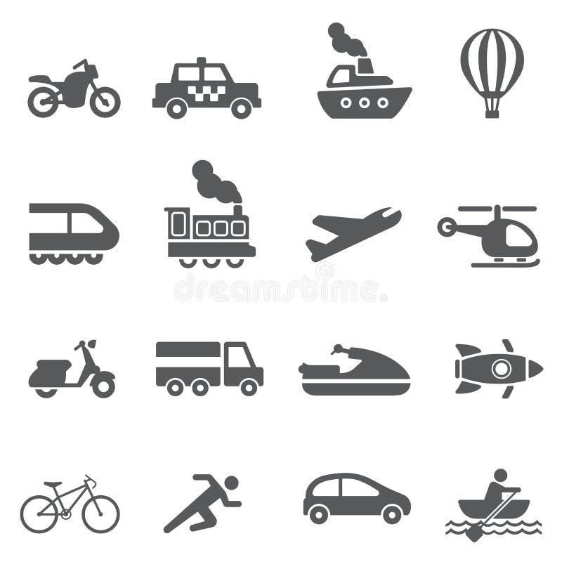 Transport icon set stock photos