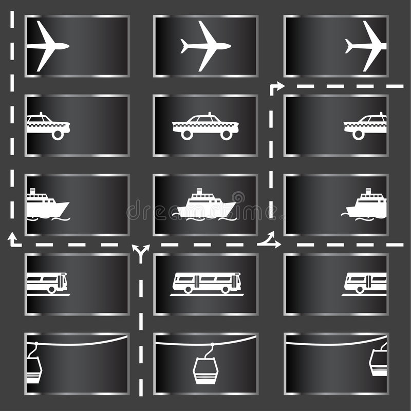Download Transport Icons Stock Photo - Image: 1508090