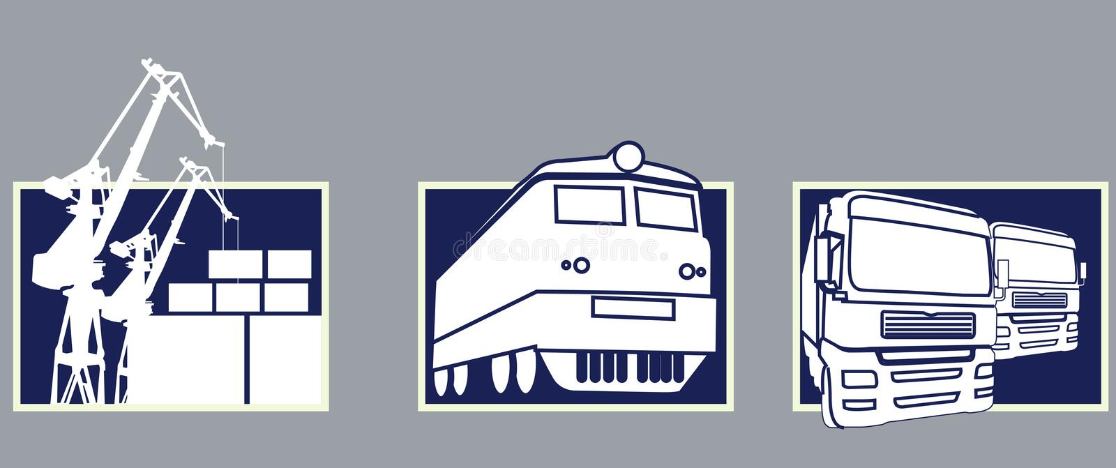 Download Transport Icons Stock Photography - Image: 1955042