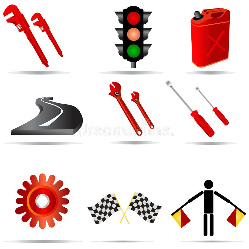 Transport Icons 2 stock images