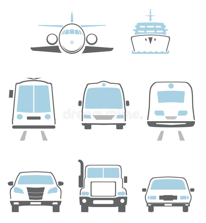 Download Transport icons stock vector. Image of urban, mobile - 27964538