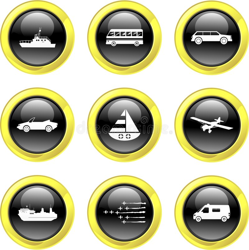 Transport icons vector illustration