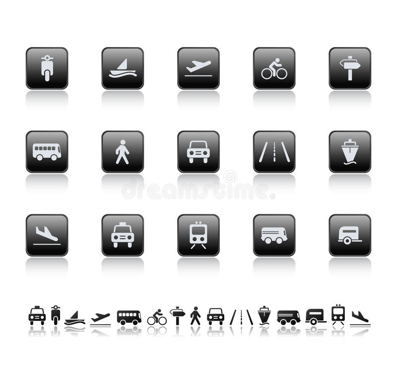 Download Transport icons stock illustration. Image of internet - 9395443