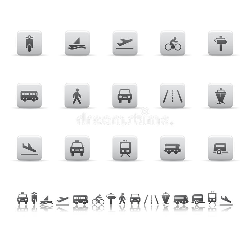 Download Transport icons stock vector. Image of auto, ship, sports - 9558301