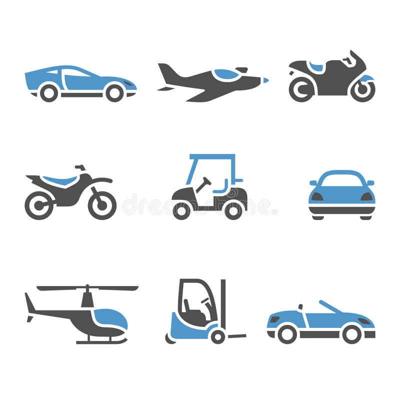 Free Transport Icons - A Set Of Four Royalty Free Stock Photography - 25594117