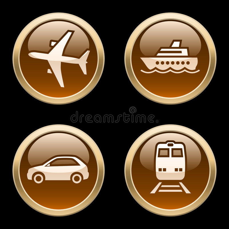 Download Transport Icons / Buttons 2 Stock Vector - Illustration: 5247105