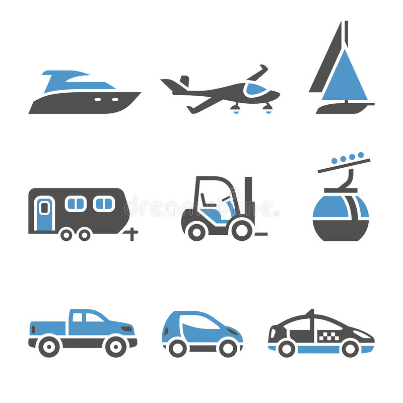 Transport Icons - A set of first. Transport pictograms - The first set vector illustration