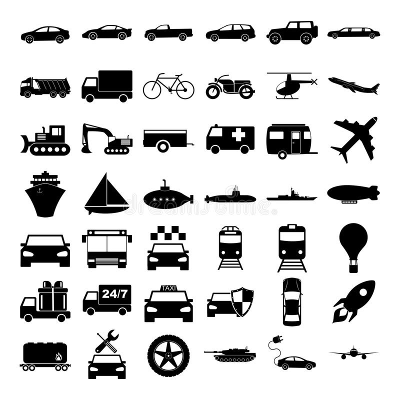 Transport icons. Vector concept illustration for design royalty free illustration