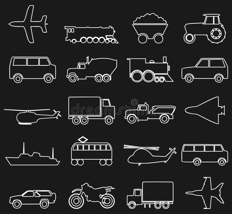 Download Transport icons3 stock vector. Illustration of track - 24334067
