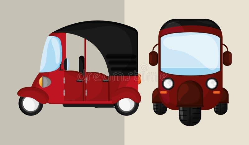 Transport ikona koncepcja retro samochodowa ilustracja, editable wektor ilustracji