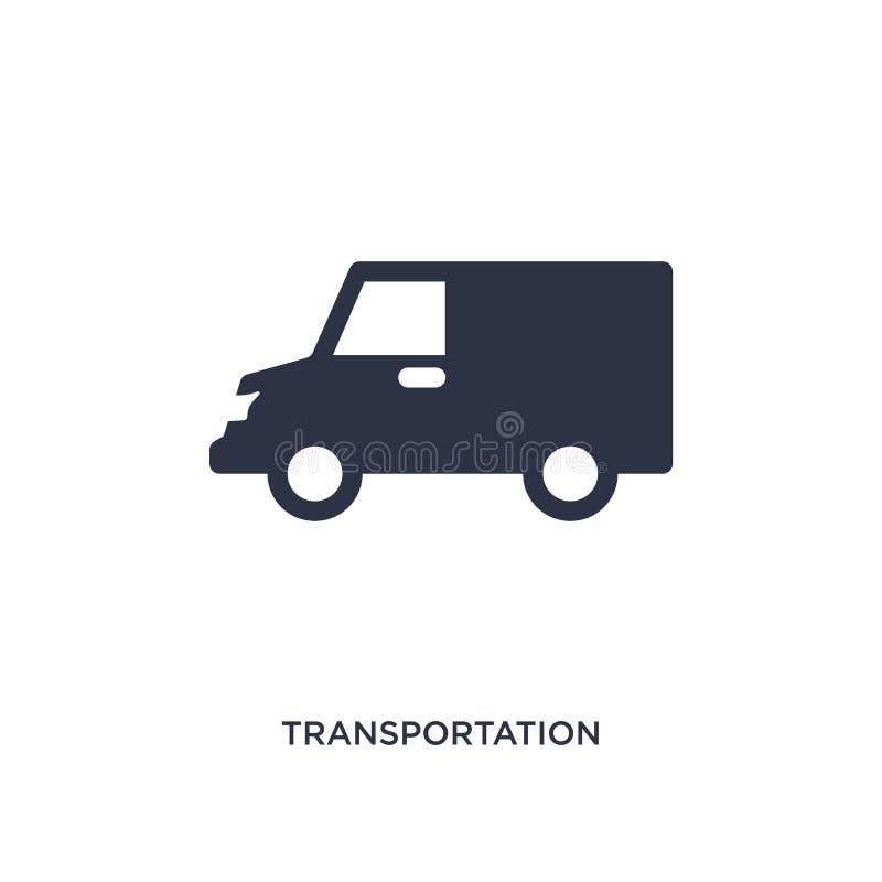 transport ikona na białym tle Prosta element ilustracja od dostawy i logistyki pojęcia royalty ilustracja