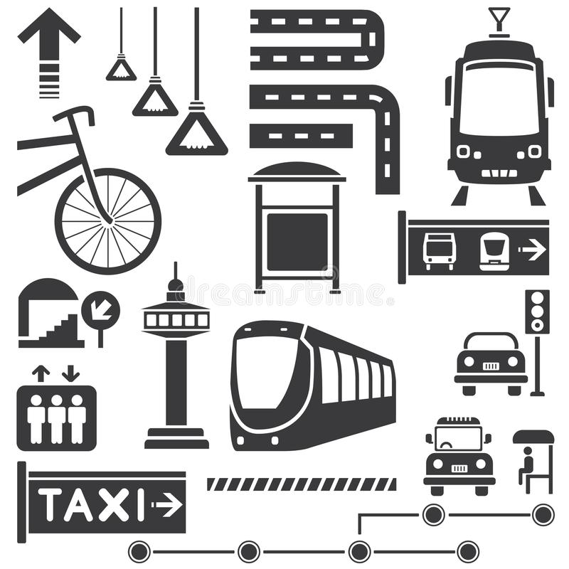 Transport ikony ilustracji