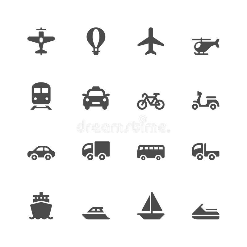 Transport ikony ilustracja wektor