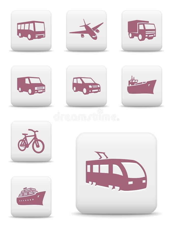 Transport ikony set ilustracja wektor