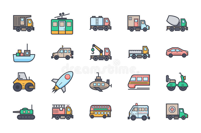 Transport Illustration Icons 2 stock illustration