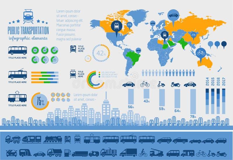 Transport Infographic-Schablone. stock abbildung