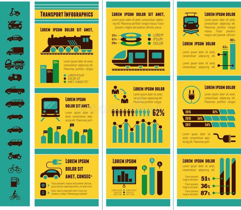 Transport Infographic-Schablone stock abbildung