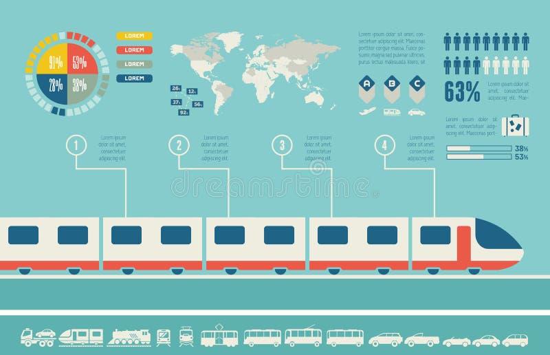 Transport Infographic-Schablone vektor abbildung