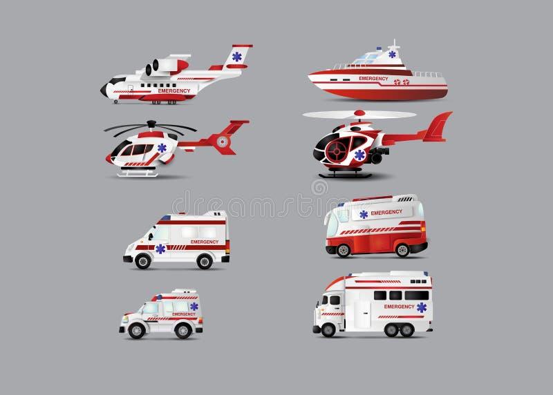 Transport karetka ilustracji