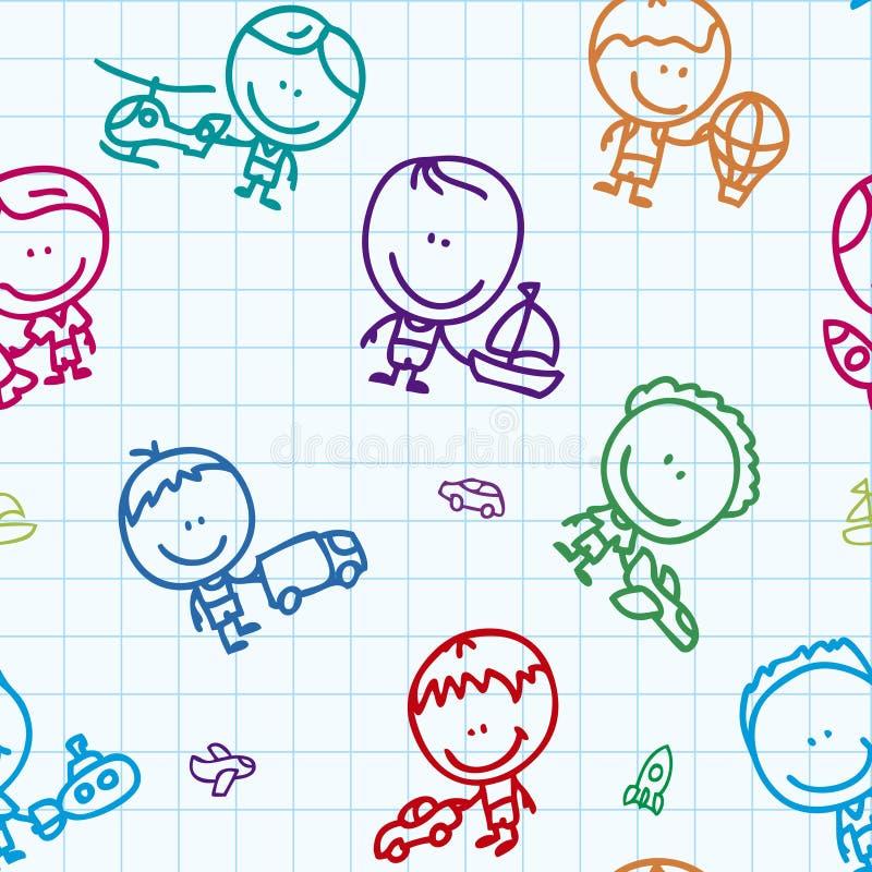 Download Transport kids pattern stock vector. Image of doodles - 27432735