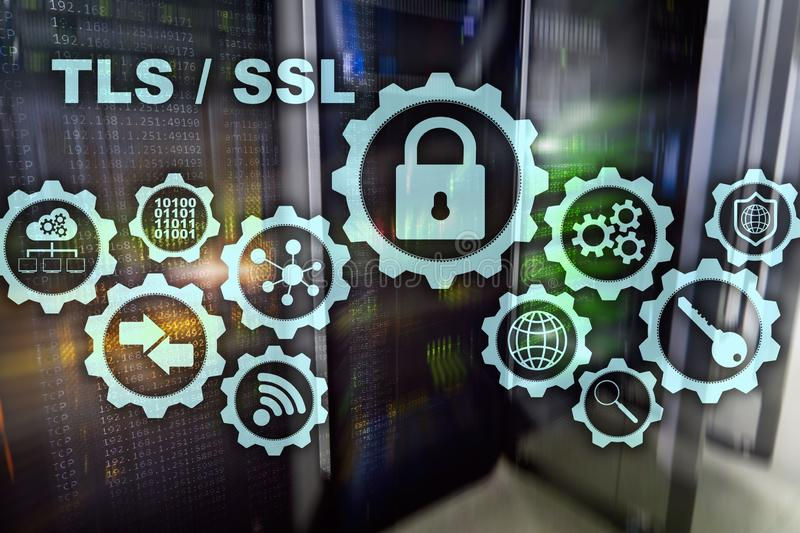 Transport Layer Security. Secure Socket Layer. TLS SSL. cryptographic protocols provide secured. Communications stock photos