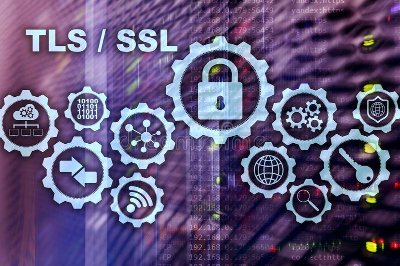 Transport Layer Security. Secure Socket Layer. TLS SSL. cryptographic protocols provide secured communications. Transport Layer Security. Secure Socket Layer royalty free stock image