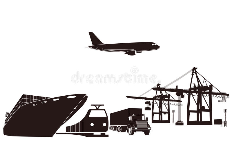 Download Transport and loading stock vector. Illustration of trucking - 22288726