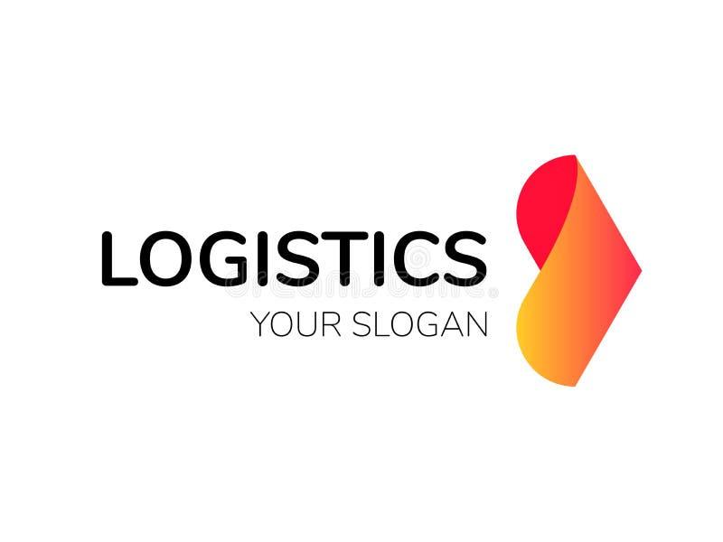 Transport logistic arrow vector logo delivery stock illustration