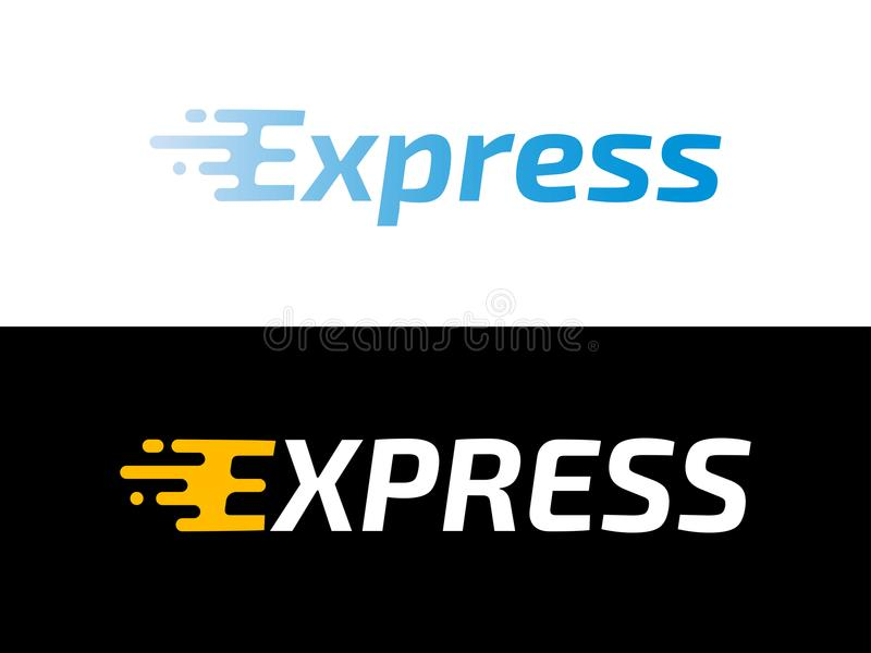 Transport logistic or Express delivery post mail logo for courier logistics shipping. Vector Express icon for transportation. Transport logistic or Express vector illustration