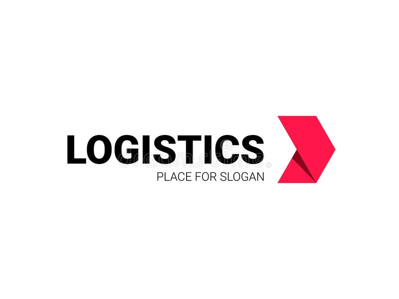Transport logistic arrow vector logo delivery royalty free illustration