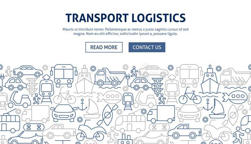 Transport Logistics Banner Design stock image
