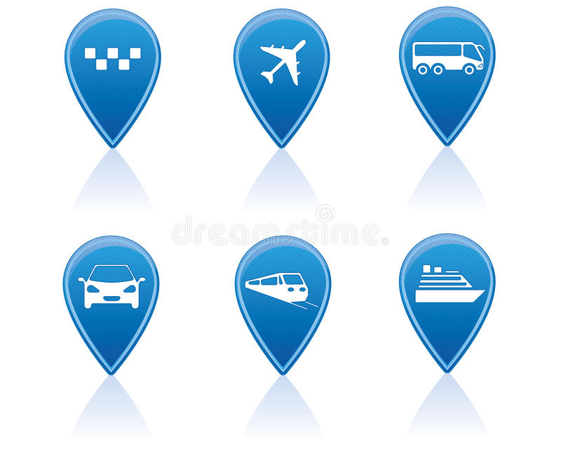 Download Transport markers stock vector. Illustration of white - 24686807