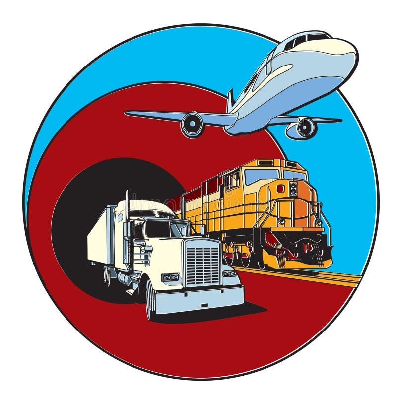 Transport odznaka ilustracji