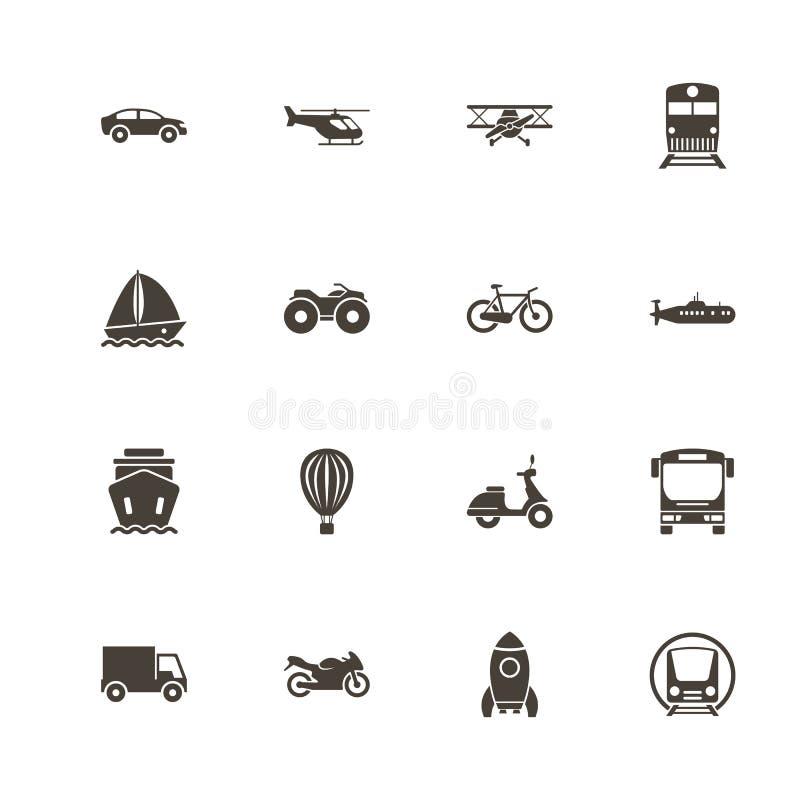 Transport - Płaskie Wektorowe ikony ilustracji