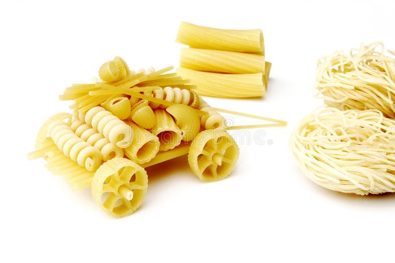 Transport of pasta - close up royalty free stock image