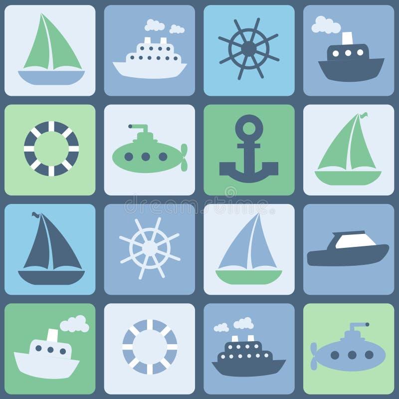 Transport per Schiff stock abbildung
