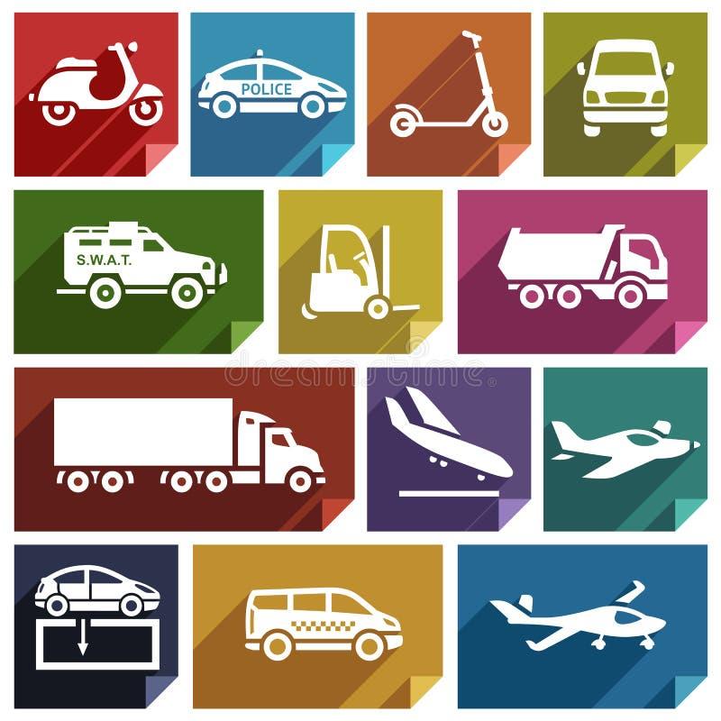 Transport plan icon-05 royaltyfri illustrationer