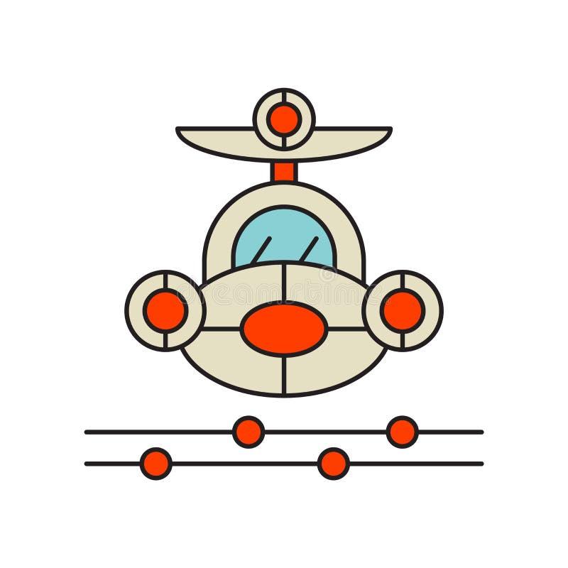 Transport powietrzny ikony wektor odizolowywający na białym tle, Lotniczy tran ilustracja wektor