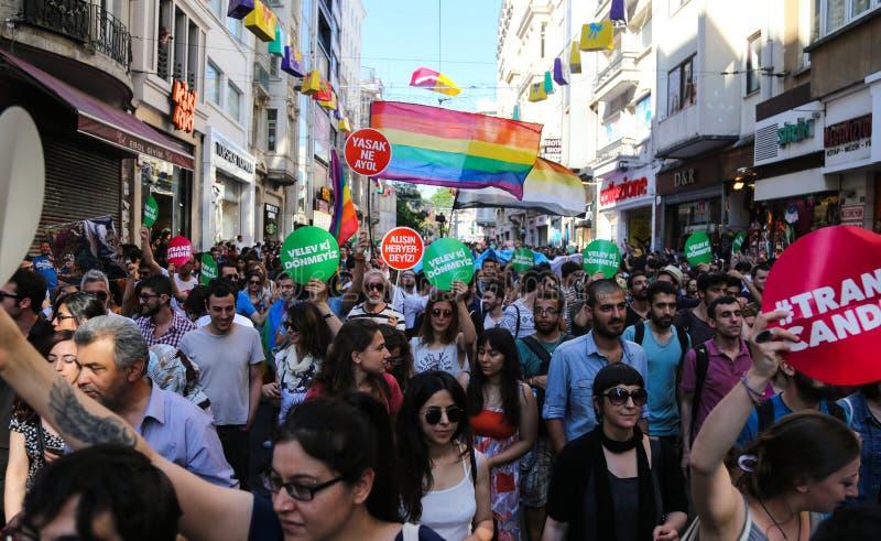 Download Transport Pride Istanbul 2015 Image éditorial - Image du people, indicateur: 56476055