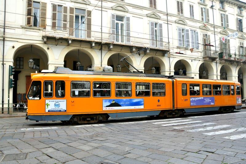 Transport public à Turin, Italie images stock