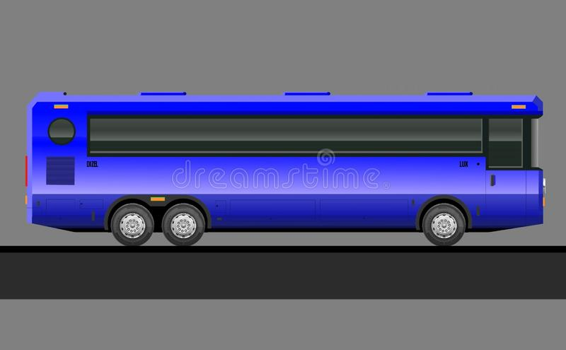 Transport, public, city, service, tourism, car, illustration, intercity, side view, realistic, foreground, truck, vintage, classic royalty free illustration