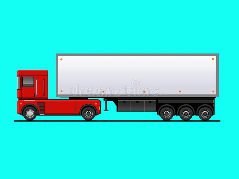 Transport, public, city, service, tourism, car, illustration, intercity, side view, realistic, foreground, truck, vintage, classic vector illustration