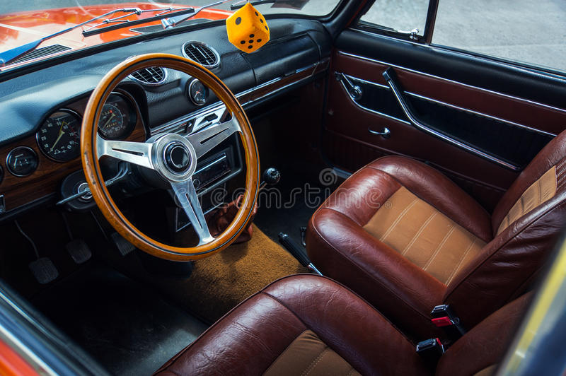 Transport, Retro, Interior of the Salon stock images
